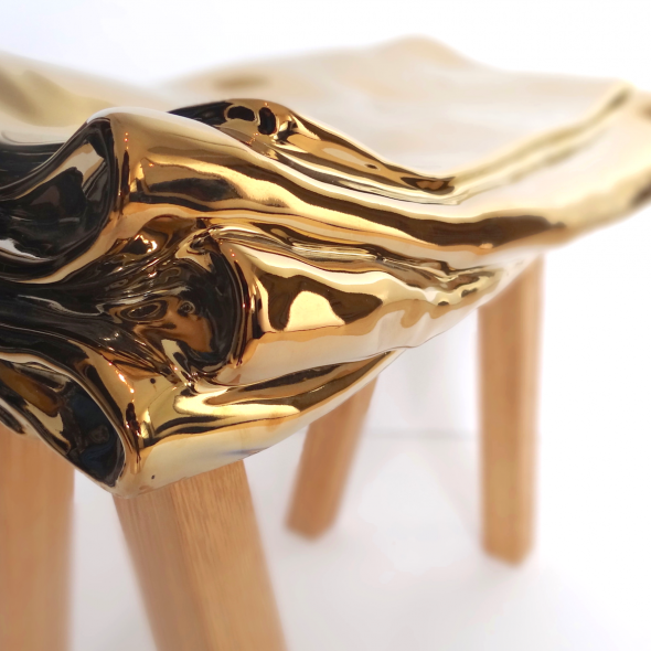 stool vv gold artist proofpiece